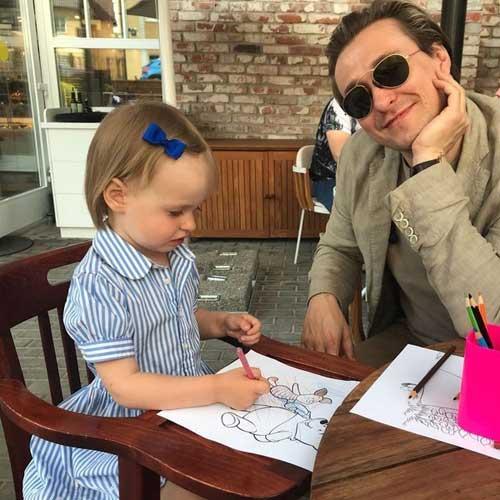 Сергей Безруков с дочкой Машей